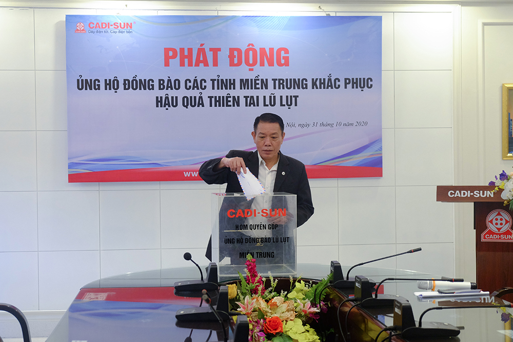 CADI-SUN chung tay ủng hộ đồng bào lũ lụt miền Trung